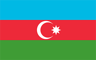 National Flag Azerbaijan