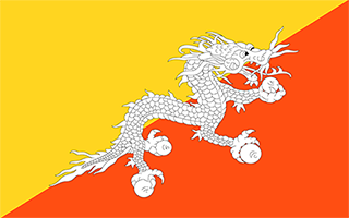 National Flag Bhutan