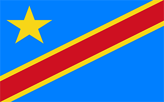 National Flag Democratic Republic of the Congo
