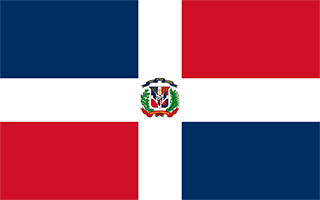 National Flag Dominican Republic