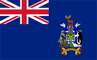 National Flag South Georgia and the South Sandwich Islands