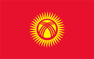 National Flag Kyrgyzstan