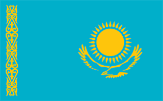 National Flag Kazakhstan