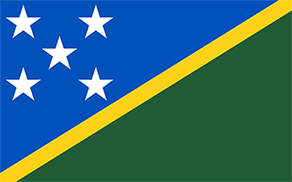 National Flag Solomon Islands