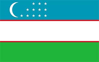 National Flag Uzbekistan